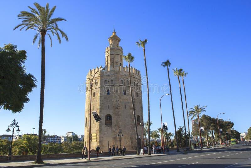 Старая башня на Севилье, Испании стоковая фотография