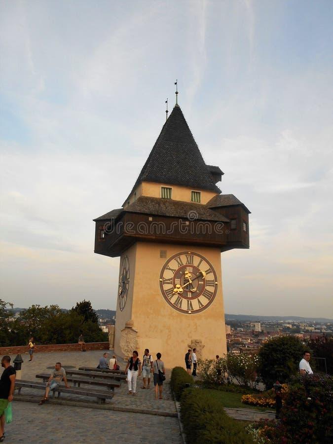 Старая башня часов стоковое изображение rf