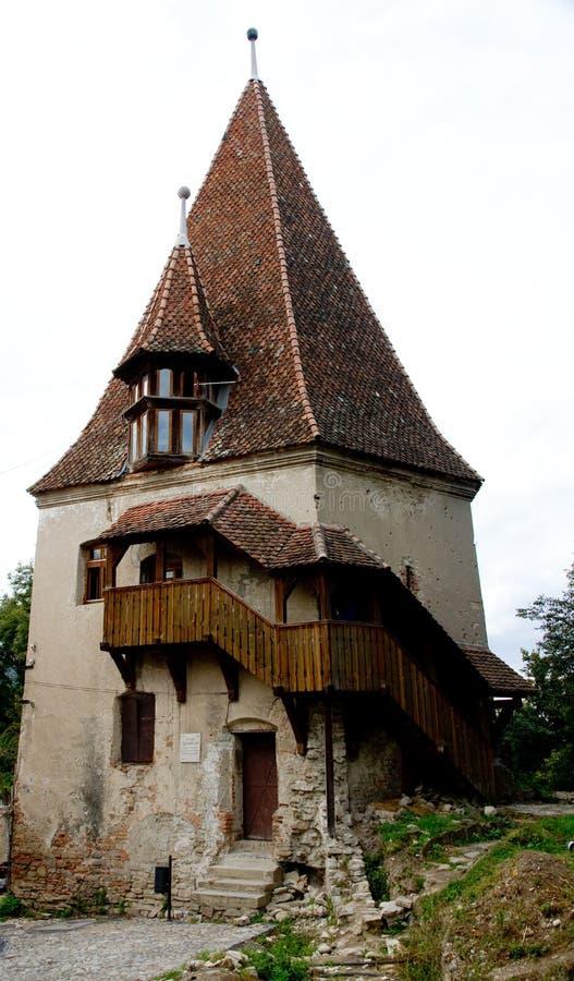 старая башня sighisoara стоковые фотографии rf