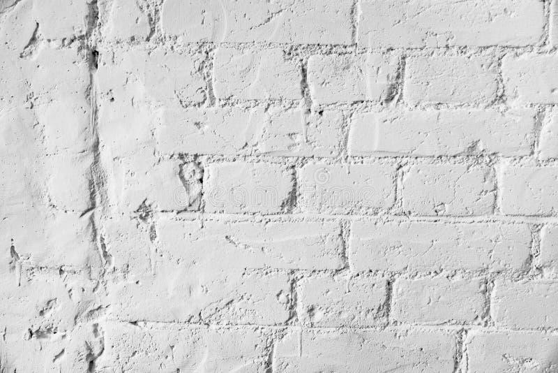 Старая белая предпосылка предпосылки текстуры кирпичной стены стоковое фото