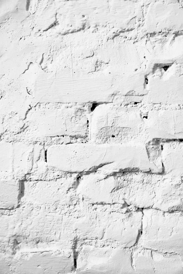 Старая белая предпосылка предпосылки текстуры кирпичной стены стоковое фото rf