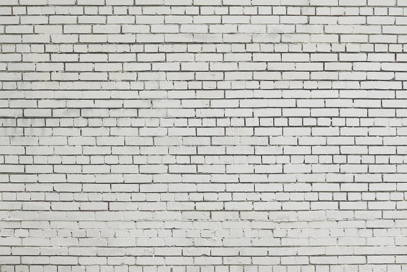 Старая белая текстура предпосылки кирпичной стены стоковое фото