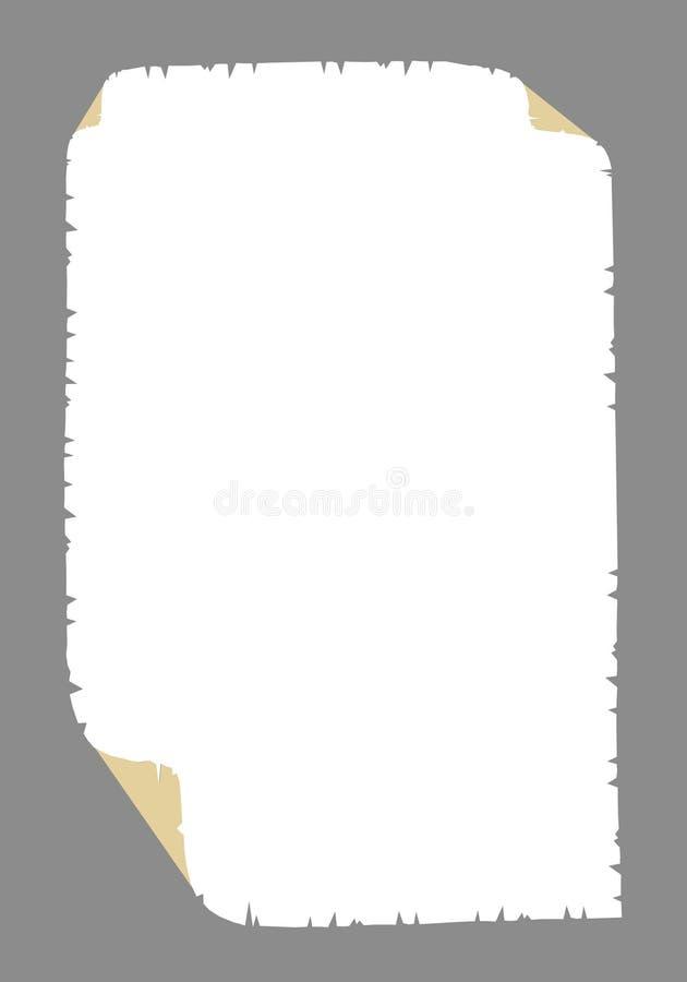 старая бумага иллюстрация вектора