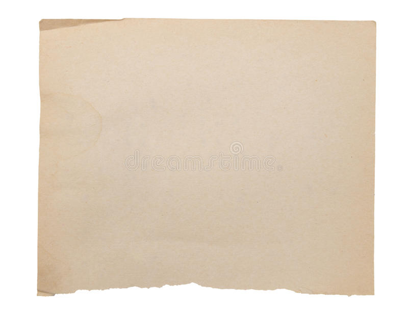 Download Старая бумага стоковое изображение. изображение насчитывающей сорвано - 33730321