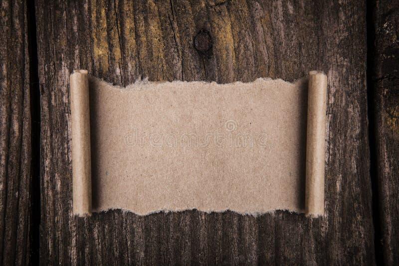 Старая бумажная польза как знамя ярлыка стоковое изображение rf