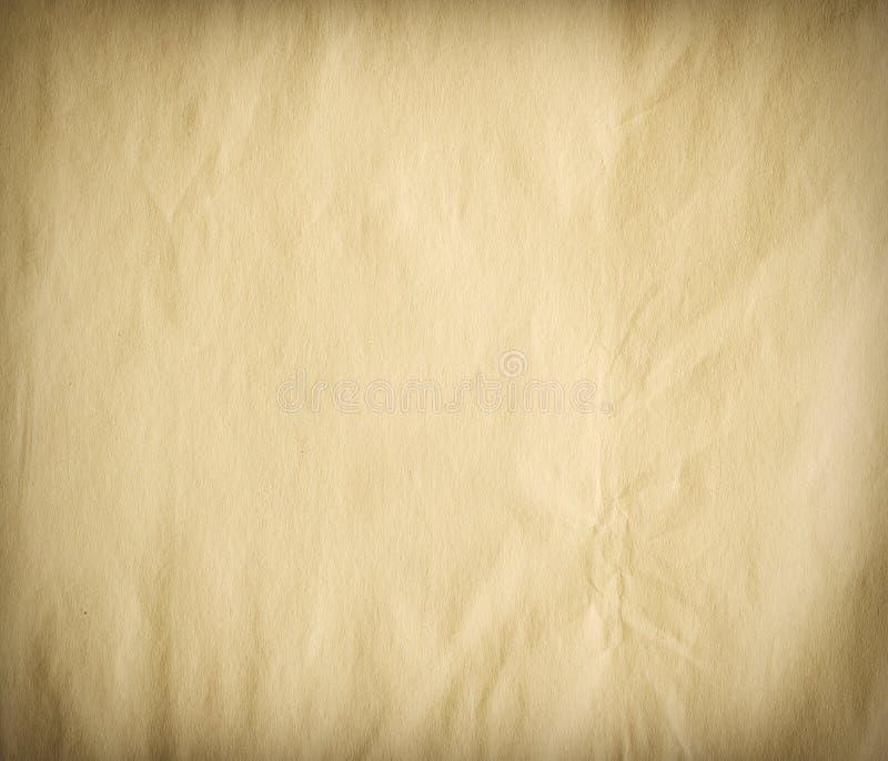 Старая бумажная текстура, виньетка стоковые фотографии rf