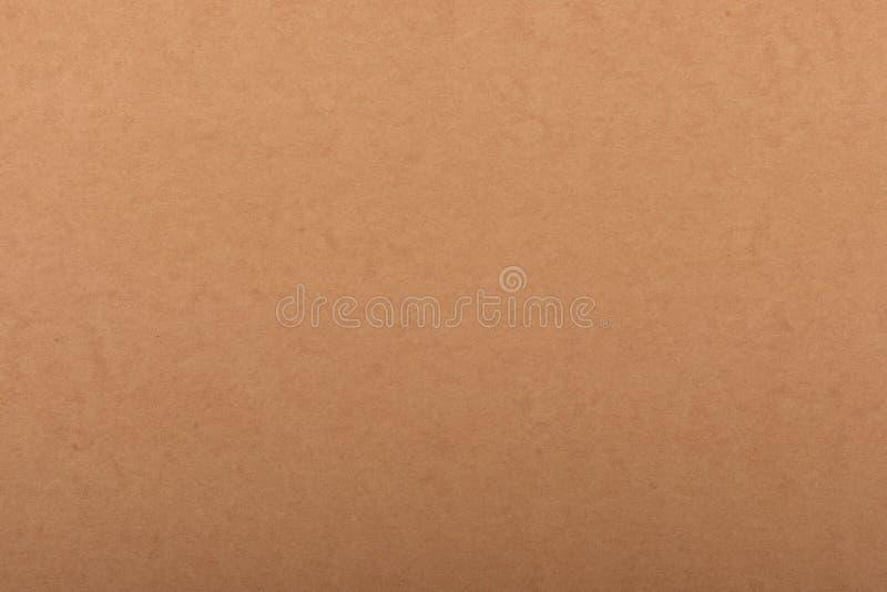 Старая бумажная текстура - предпосылка листа Брайна kraft стоковое изображение