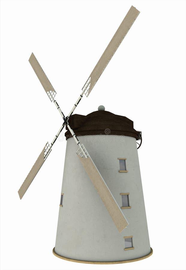 старая ветрянка ветрил иллюстрация вектора