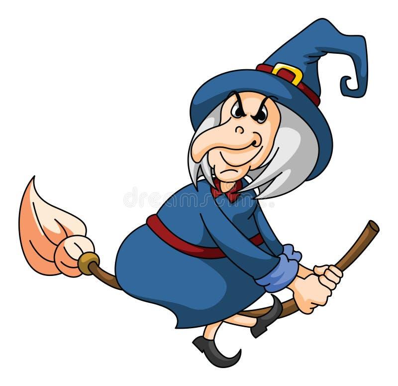 старая ведьма иллюстрация вектора