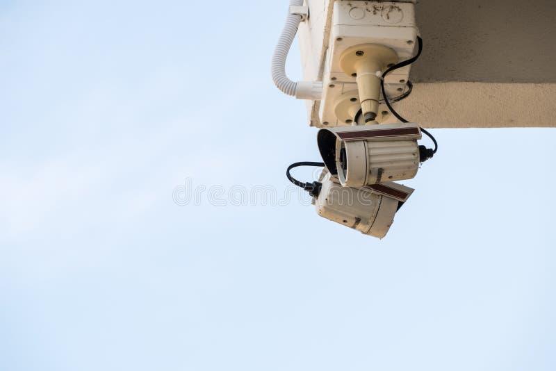 Старая видеокамера безопасностью стоковое фото rf