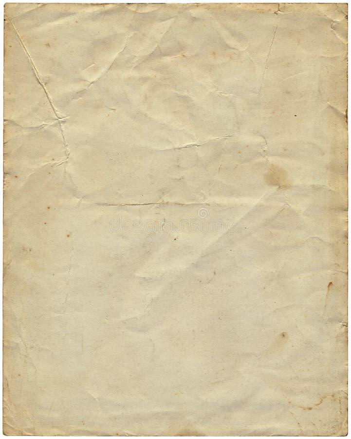Старая винтажная бумага от 1977. стоковое фото
