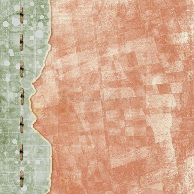 Старая винтажная бумажная крышка альбома с лентой для фото стоковое фото