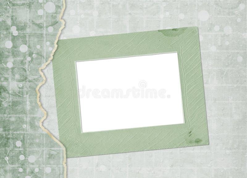 Старая винтажная бумажная крышка альбома с лентой для фото стоковые изображения