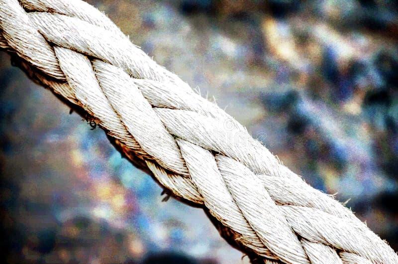 Старая винтажная военноморская веревочка стоковая фотография rf