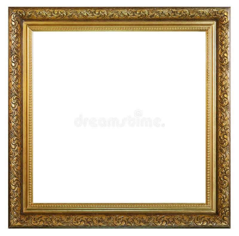 Старая винтажная золотая рамка стоковое фото