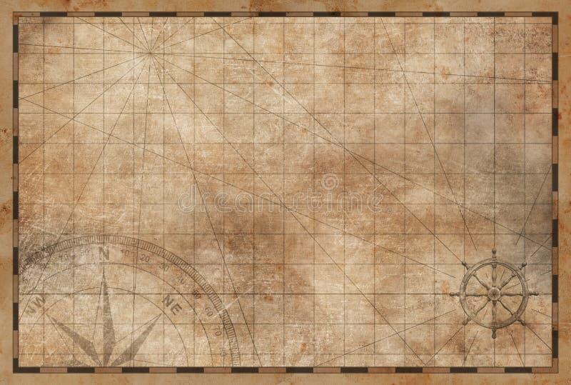 Старая винтажная предпосылка карты иллюстрация вектора