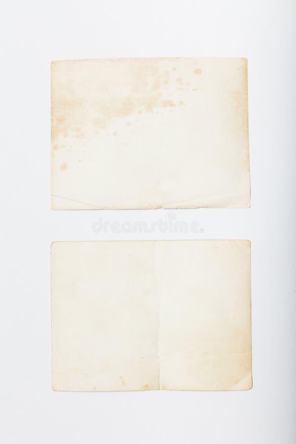 Старая винтажная рамка фото, шаблон карты изображения r стоковое изображение
