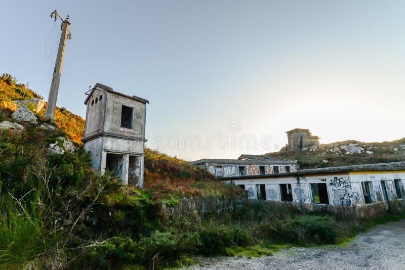 Старая военная база - Baiona стоковое фото