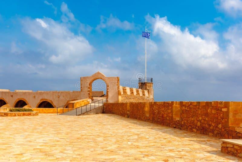 Старая гавань, Chania, Крит, Греция стоковые изображения rf