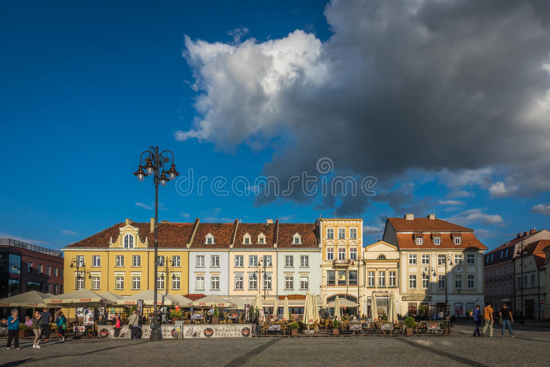 Старая городская площадь в Bydgoszcz стоковые изображения rf