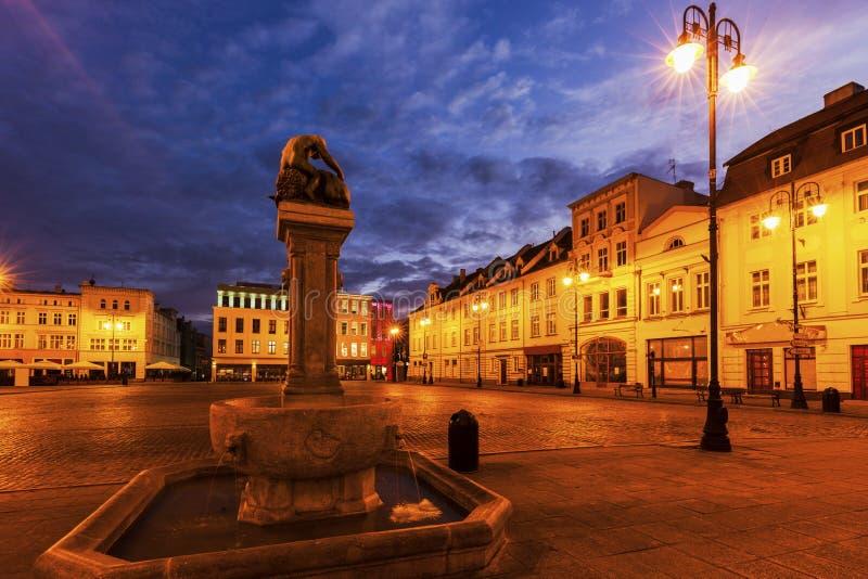 Старая городская площадь в Bydgoszcz стоковые фотографии rf