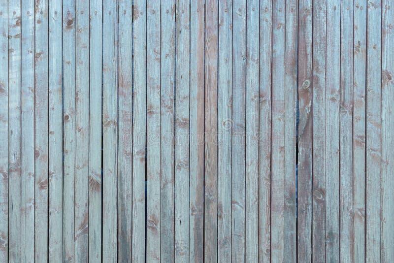 Старая голубая деревянная предпосылка вертикальных нашивок стоковая фотография rf