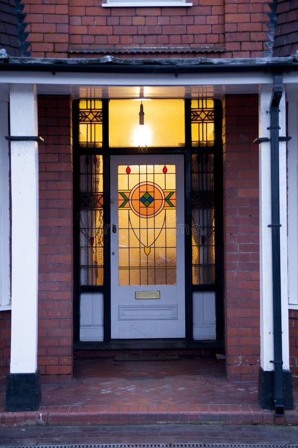 Старая дверь в Великобритании Вулверхэмптоне стоковая фотография rf