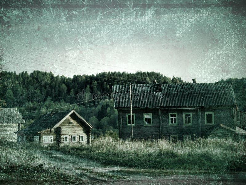 старая деревня на опушке стоковые фото