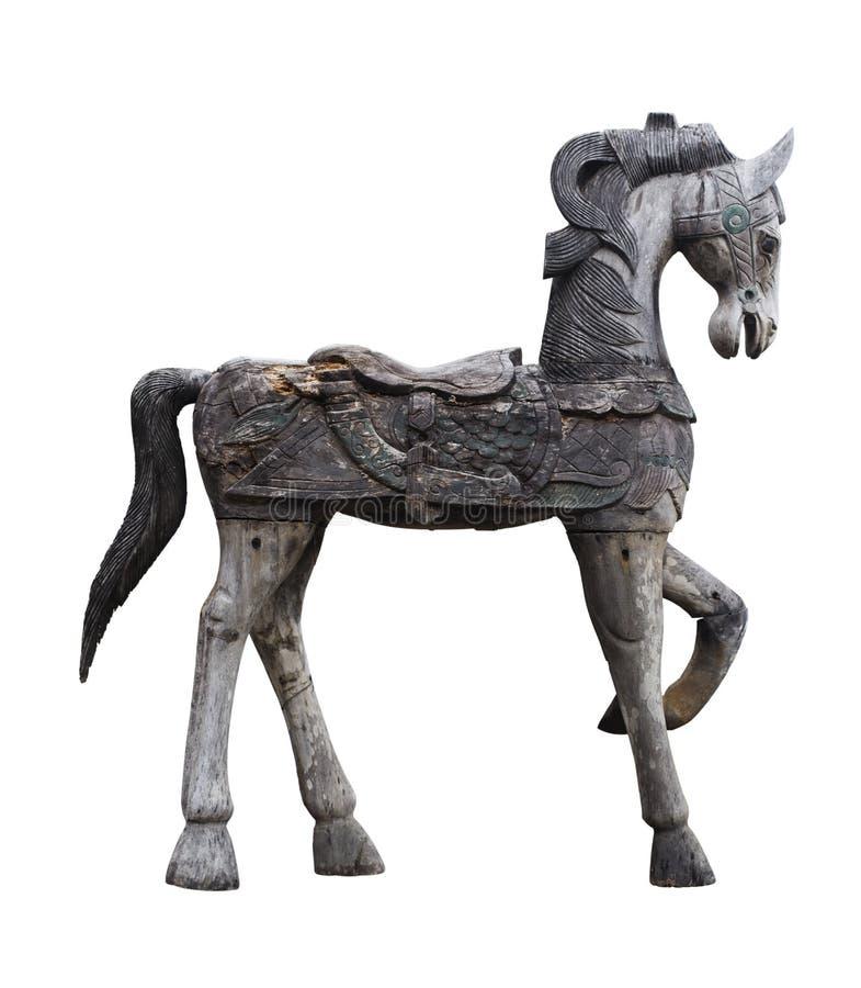 Старая деревянная лошадь стоковое изображение