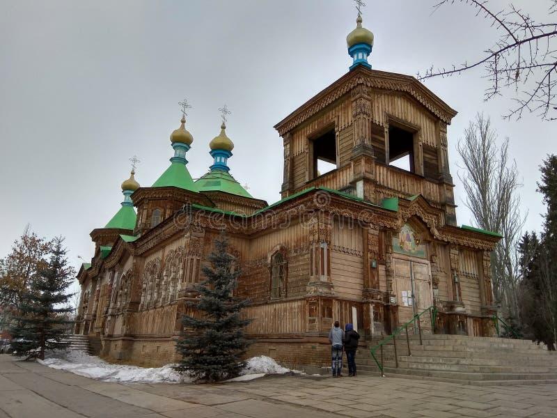 Старая деревянная православная церков церковь стоковые изображения