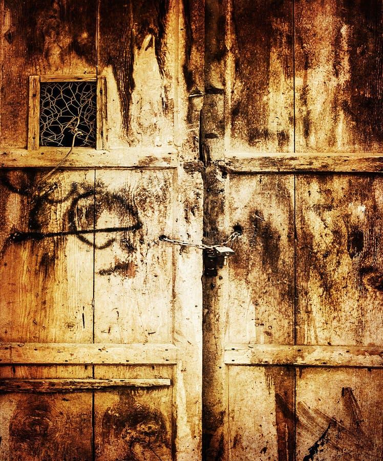 Старая деревянная предпосылка двери стоковые изображения