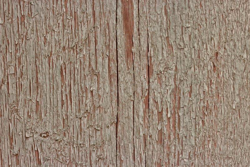 Старая деревянная предпосылка доск с краской треснутой и шелушением стоковая фотография rf
