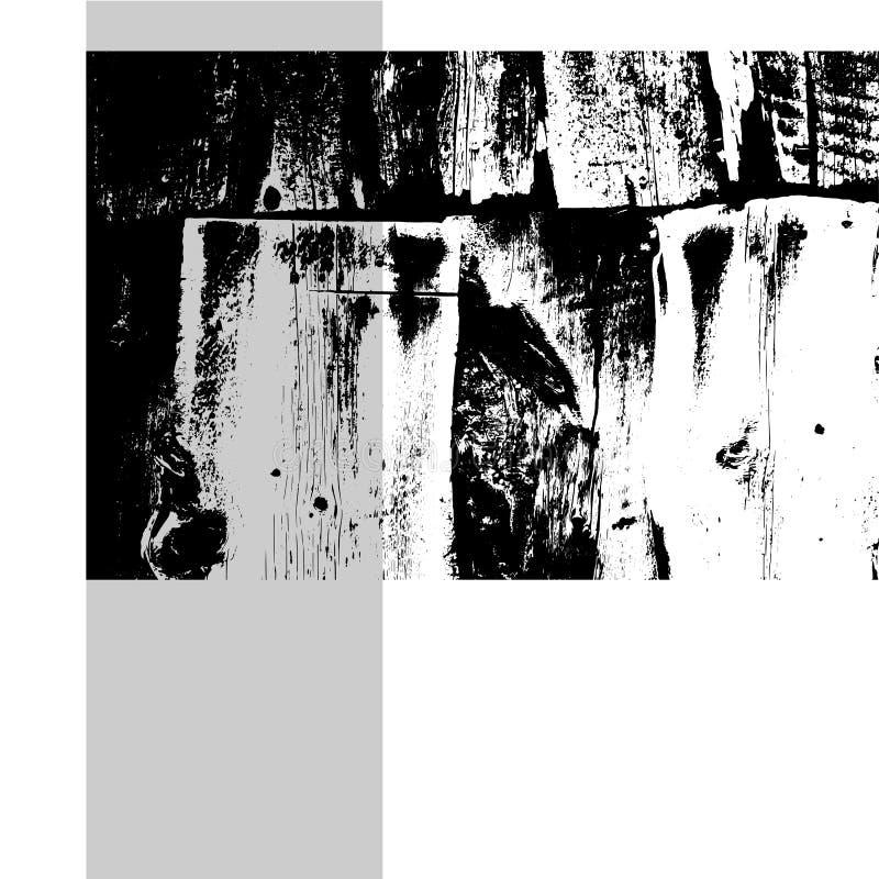 Старая деревянная предпосылка Шаблон Grunge для дизайна бесплатная иллюстрация
