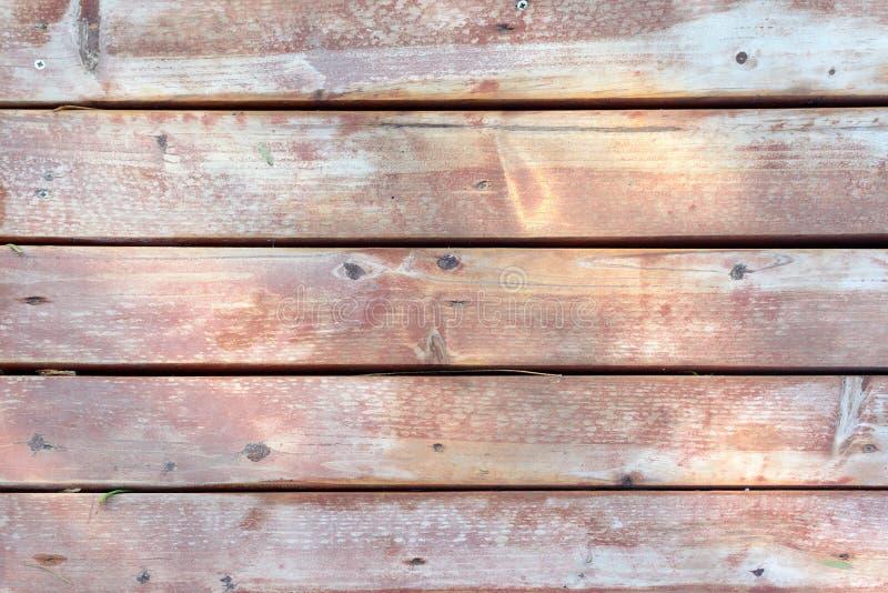 Старая деревянная стена сделанная доск Металлическая пластинка Брайна необыкновенная Деревянная текстура стоковые изображения