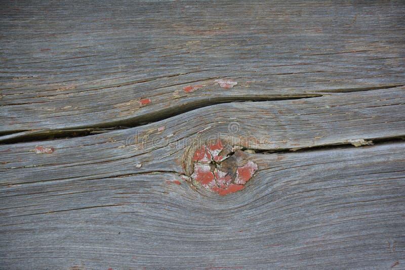 Старая деревянная текстура с узлом и отказами и трассировками краски стоковые изображения rf