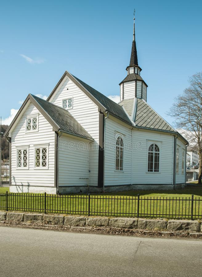 Старая деревянная церковь в Норвегии стоковая фотография