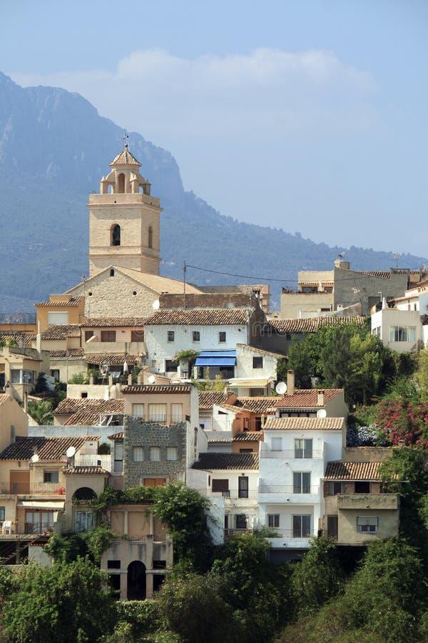 Старая деревня на вершине холма стоковая фотография rf