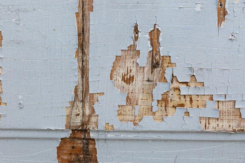 Старая деревянная горизонтальная предпосылка текстуры с краской шелушения стоковые изображения