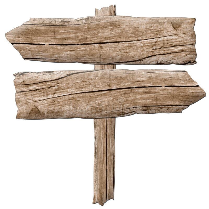 Старая деревянная стрелка знака стоковые изображения