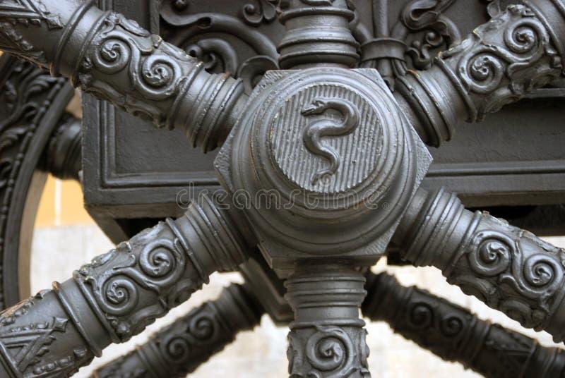 Старая деталь карамболя в Москве Кремле Место наследия Unesco стоковое фото