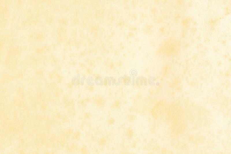 Старая желтая бумага с пятнами стоковая фотография rf