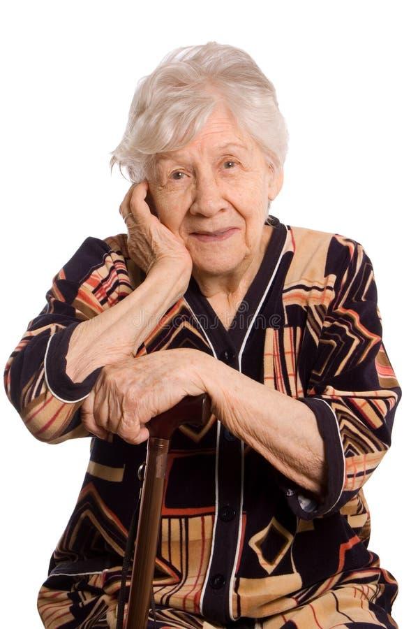 старая женщина портрета стоковые изображения rf
