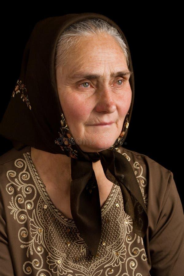 старая женщина тоскливости стоковые фото