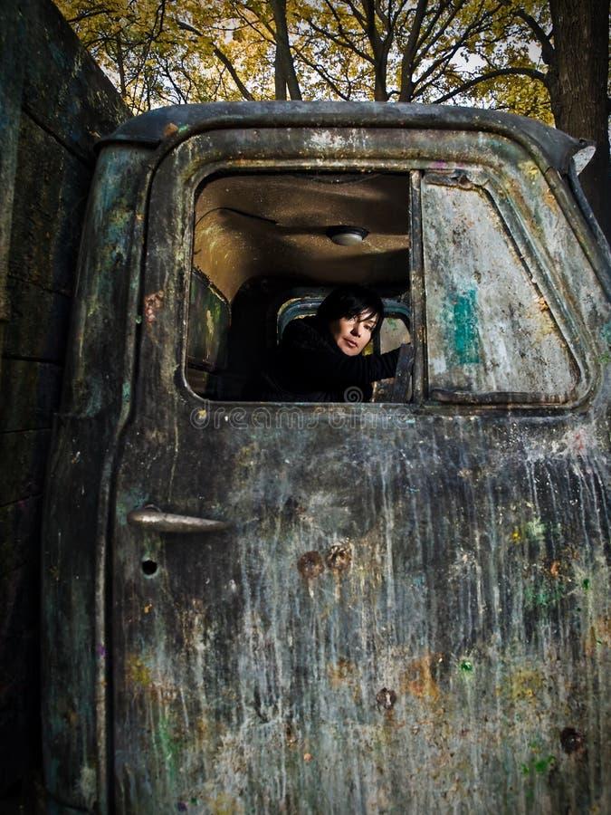 старая женщина truk стоковые фотографии rf