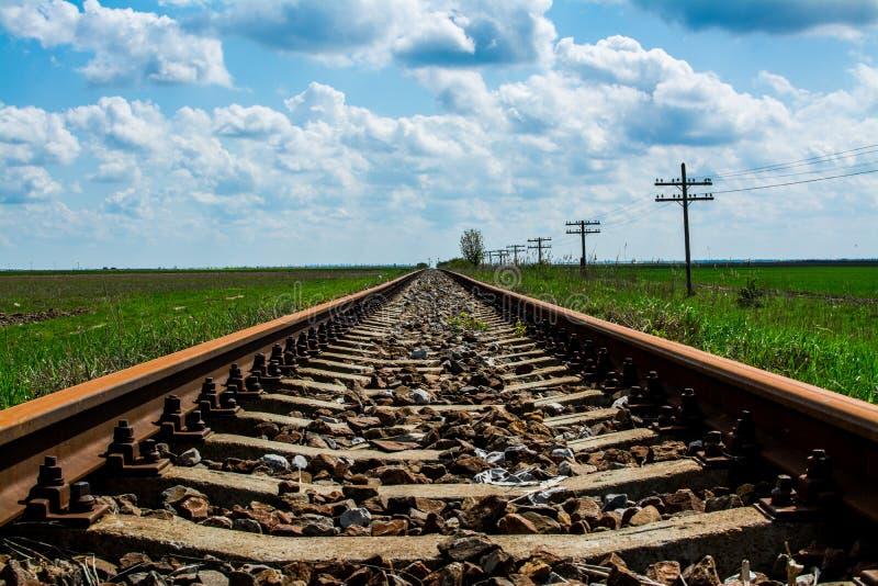 Старая железная дорога стоковая фотография rf