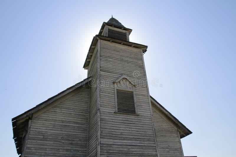 Старая западная церковь сельской местности стоковое изображение rf