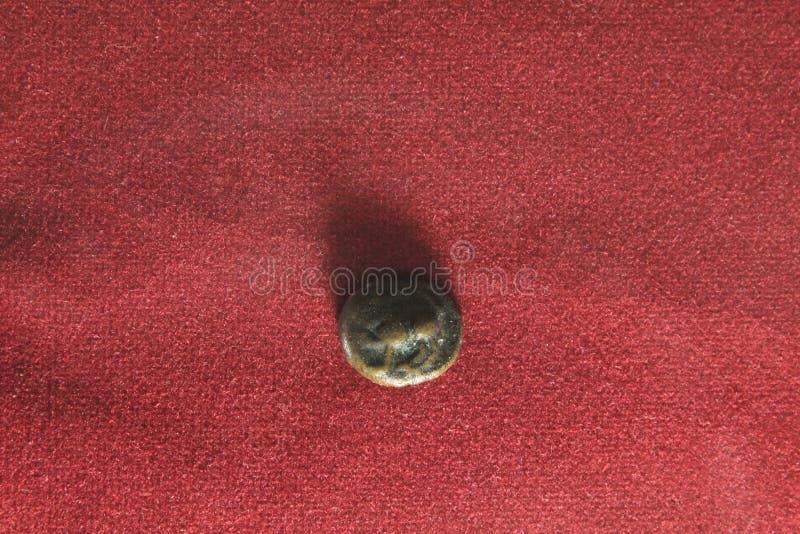Старая индийская монетка стоковое фото rf