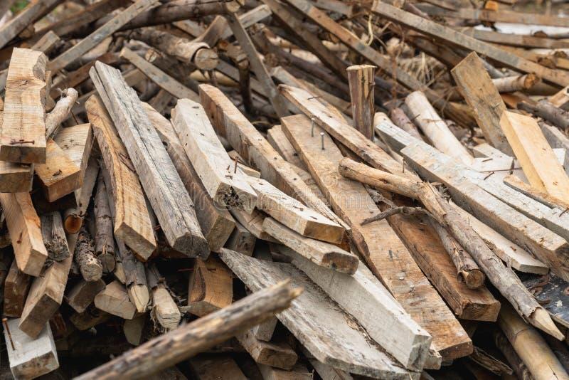 Старая используемая деревянная куча стоковые изображения rf