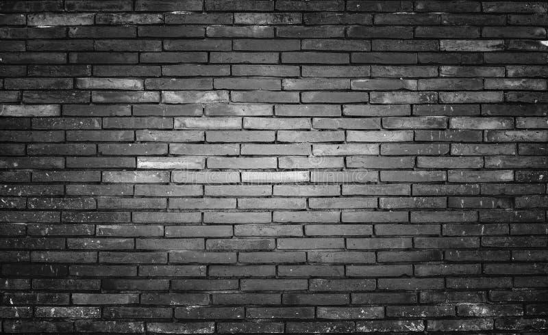Старая и пакостная предпосылка черноты кирпичной стены, текстура стоковые фотографии rf