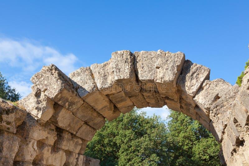 Старая каменная Олимпия свода, Греция стоковая фотография